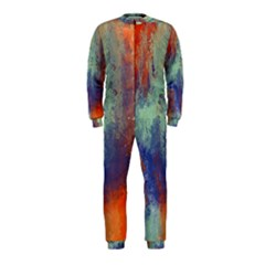 Abstract in Green, Orange, and Blue OnePiece Jumpsuit (Kids)