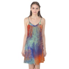 Abstract In Green, Orange, And Blue Camis Nightgown