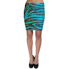 Turquoise Blue Zebra Abstract  Bodycon Skirts