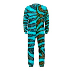 Turquoise Blue Zebra Abstract  OnePiece Jumpsuit (Kids)