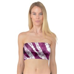 Purple Zebra Print Bling Pattern  Women s Bandeau Tops