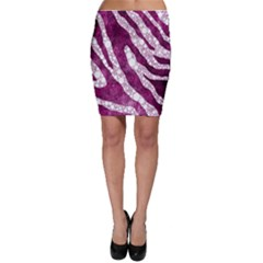 Purple Zebra Print Bling Pattern  Bodycon Skirts