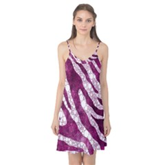 Purple Zebra Print Bling Pattern  Camis Nightgown