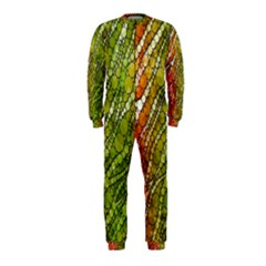 Orange Green Zebra Bling Pattern  OnePiece Jumpsuit (Kids)
