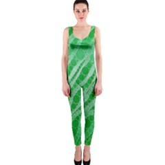 Florescent Green Zebra Abstract  Onepiece Catsuits