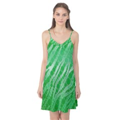 Florescent Green Zebra Abstract  Camis Nightgown