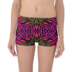 Florescent Pink Green Zebra Abstract  Boyleg Bikini Bottoms