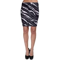 Black&White Zebra Abstract  Bodycon Skirts