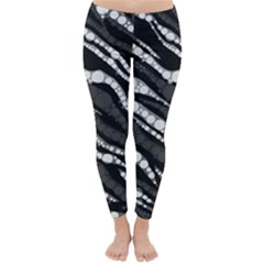 Black&White Zebra Abstract  Winter Leggings