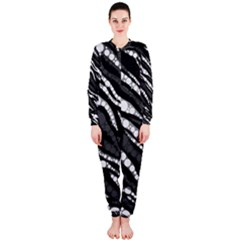 Black&White Zebra Abstract  OnePiece Jumpsuit (Ladies)
