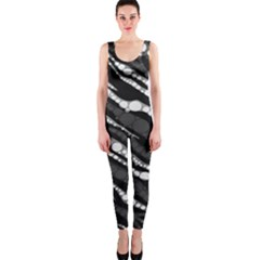 Black&White Zebra Abstract  OnePiece Catsuits