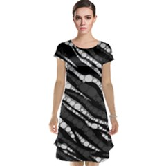Black&white Zebra Abstract  Cap Sleeve Nightdresses