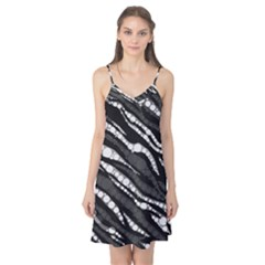 Black&White Zebra Abstract  Camis Nightgown