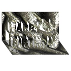 Brilliant Metal 5 Happy Birthday 3D Greeting Card (8x4)