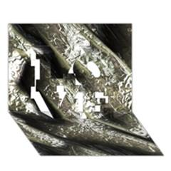 Brilliant Metal 5 LOVE 3D Greeting Card (7x5)