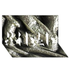 Brilliant Metal 5 #1 Dad 3d Greeting Card (8x4)