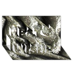 Brilliant Metal 5 Best Wish 3D Greeting Card (8x4)