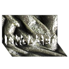 Brilliant Metal 5 ENGAGED 3D Greeting Card (8x4)