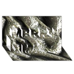 Brilliant Metal 5 Merry Xmas 3D Greeting Card (8x4)