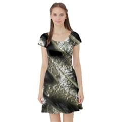 Brilliant Metal 5 Short Sleeve Skater Dresses