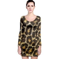Crazy Beautiful Abstract Cheetah Abstract  Long Sleeve Bodycon Dresses
