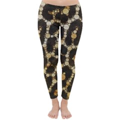 Crazy Beautiful Abstract Cheetah Abstract  Winter Leggings