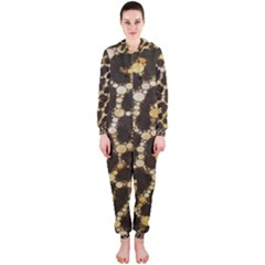 Crazy Beautiful Abstract Cheetah Abstract  Hooded Jumpsuit (Ladies)
