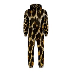 Crazy Beautiful Abstract Cheetah Abstract  Hooded Jumpsuit (Kids)