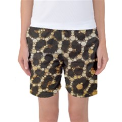 Crazy Beautiful Abstract Cheetah Abstract  Women s Basketball Shorts