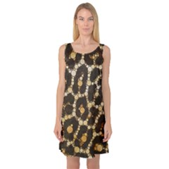 Crazy Beautiful Abstract Cheetah Abstract  Sleeveless Satin Nightdresses
