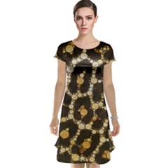 Crazy Beautiful Abstract Cheetah Abstract  Cap Sleeve Nightdresses