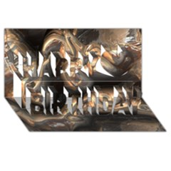 Brilliant Metal 4 Happy Birthday 3d Greeting Card (8x4)