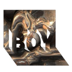 Brilliant Metal 4 BOY 3D Greeting Card (7x5)