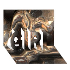 Brilliant Metal 4 GIRL 3D Greeting Card (7x5)