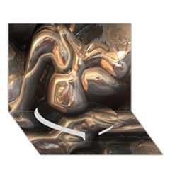 Brilliant Metal 4 Heart Bottom 3D Greeting Card (7x5)