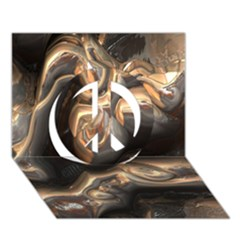Brilliant Metal 4 Peace Sign 3D Greeting Card (7x5)