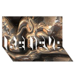 Brilliant Metal 4 Believe 3d Greeting Card (8x4)