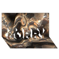 Brilliant Metal 4 SORRY 3D Greeting Card (8x4)