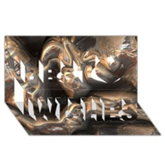 Brilliant Metal 4 Best Wish 3D Greeting Card (8x4)