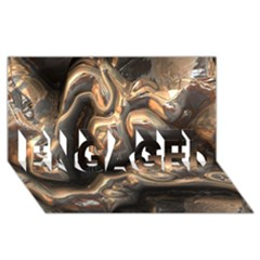 Brilliant Metal 4 Engaged 3d Greeting Card (8x4)
