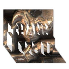 Brilliant Metal 4 Thank You 3d Greeting Card (7x5)