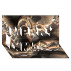 Brilliant Metal 4 Merry Xmas 3d Greeting Card (8x4)