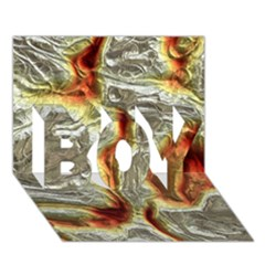 Brilliant Metal 3 BOY 3D Greeting Card (7x5)