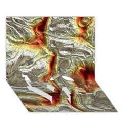 Brilliant Metal 3 LOVE Bottom 3D Greeting Card (7x5)