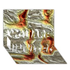 Brilliant Metal 3 You Are Invited 3d Greeting Card (7x5)