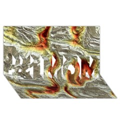 Brilliant Metal 3 #1 MOM 3D Greeting Cards (8x4)