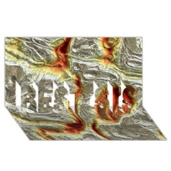 Brilliant Metal 3 BEST SIS 3D Greeting Card (8x4)