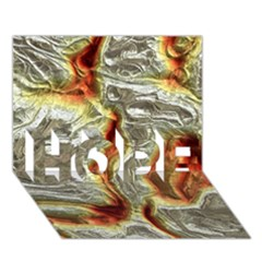 Brilliant Metal 3 Hope 3d Greeting Card (7x5)