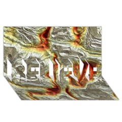 Brilliant Metal 3 Believe 3d Greeting Card (8x4)