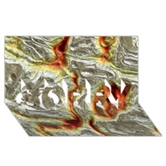 Brilliant Metal 3 SORRY 3D Greeting Card (8x4)